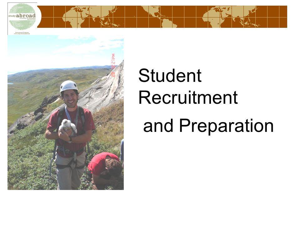 Student Recruitment and Preparation