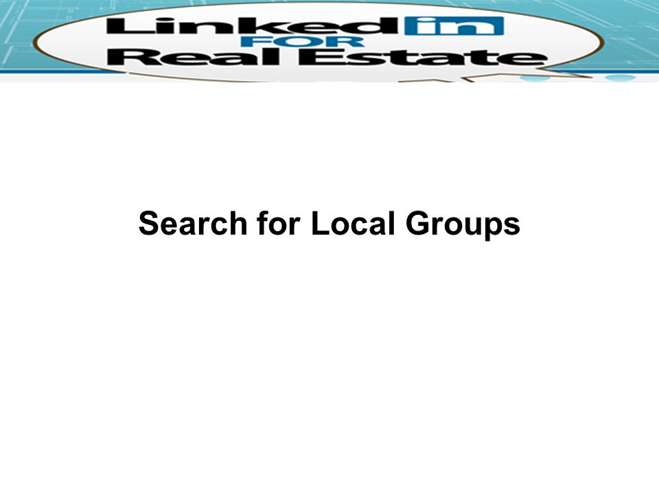 Search for Local Groups
