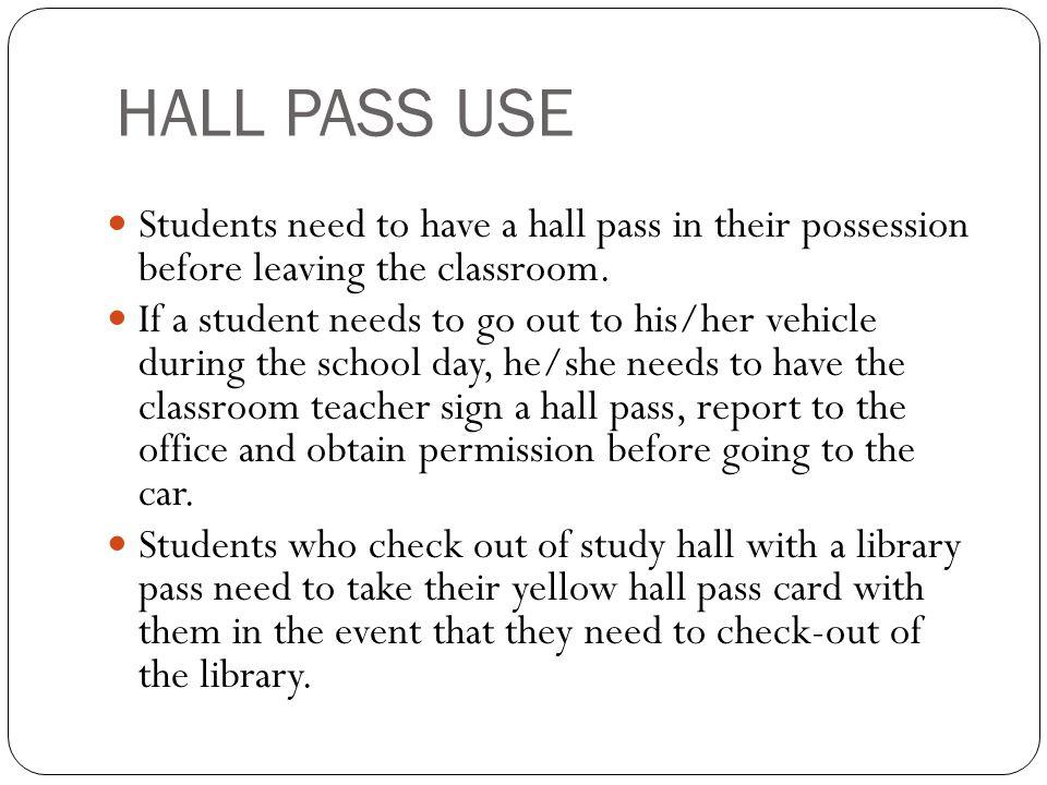 hall pass classroom