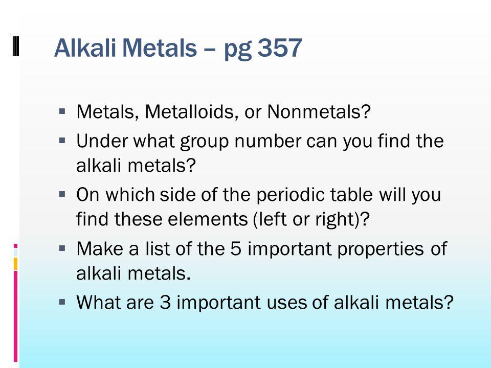Do now please write hw in your agenda please update your 8 alkali metals urtaz Gallery