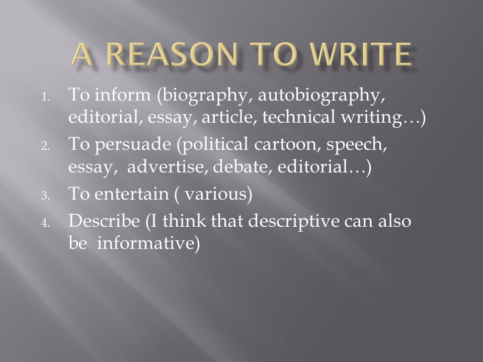 What is the difference between a biographical essay and a autobiography?