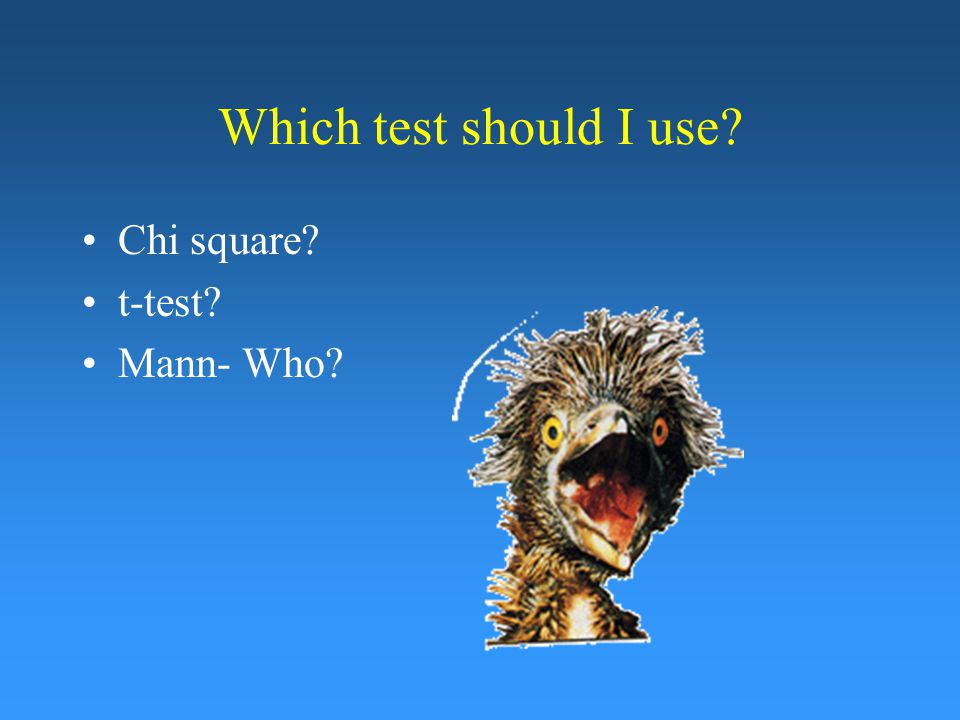 Which t-test should I use?
