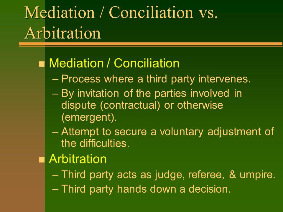 Mediation mediation conciliation vs arbitration n mediation 2 mediation conciliation stopboris Images