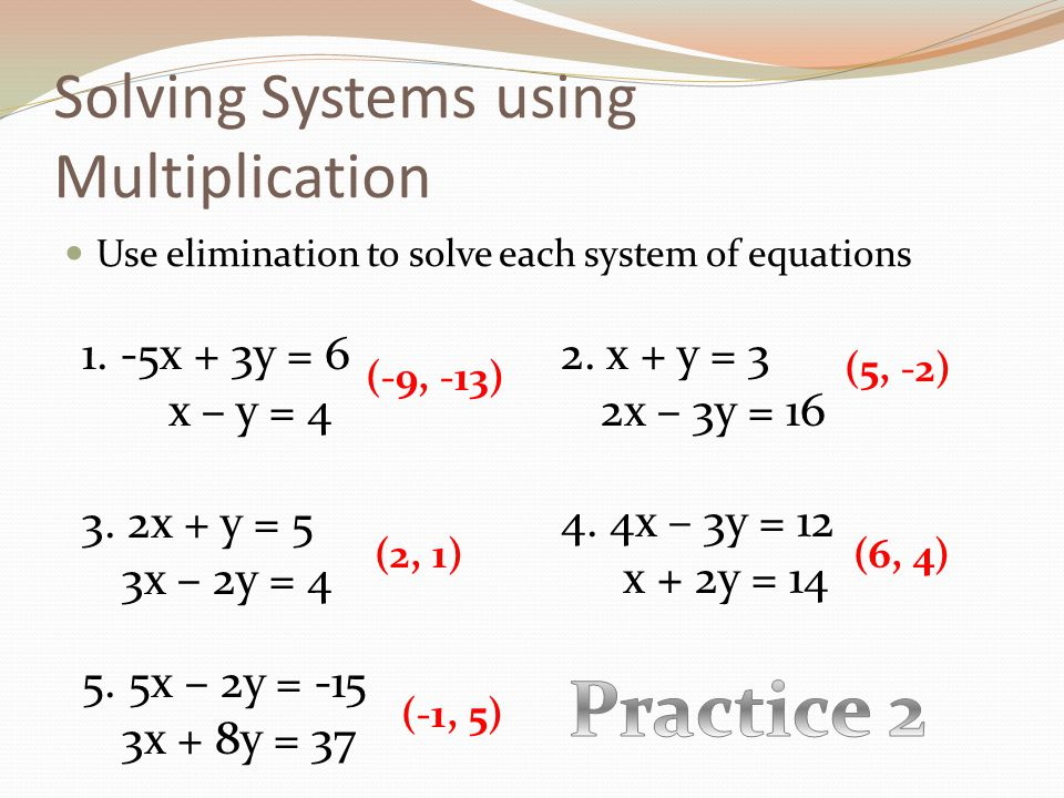 System Of Equations Substitution Worksheet