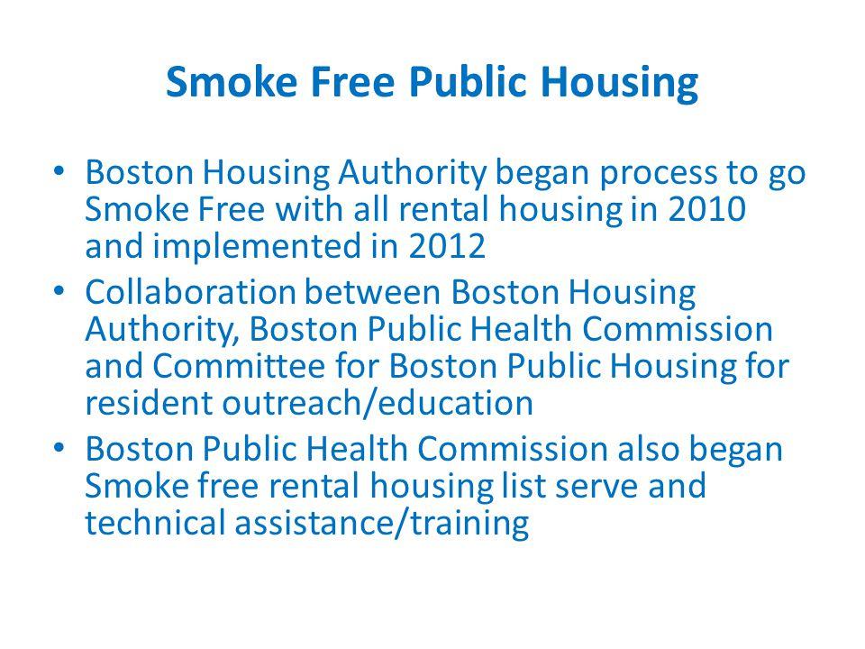 9 Smoke Free Public Housing Boston Housing Authority ...