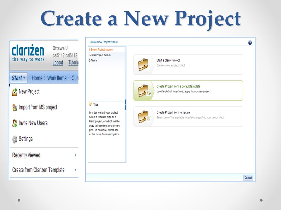 Create a New Project