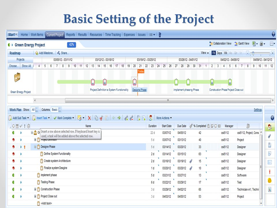 Basic Setting of the Project