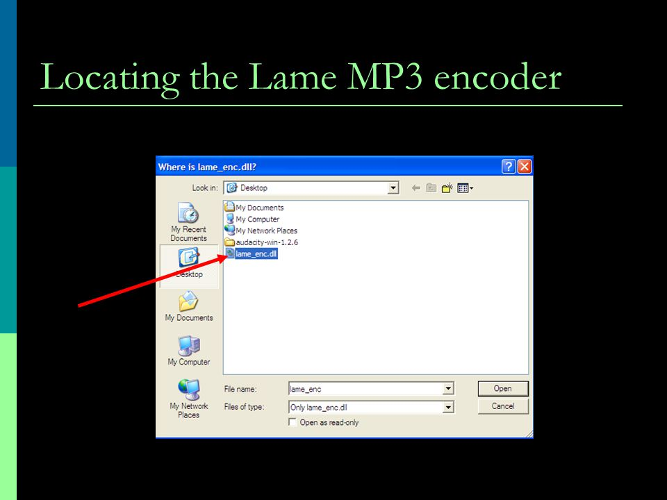 Locating the Lame MP3 encoder