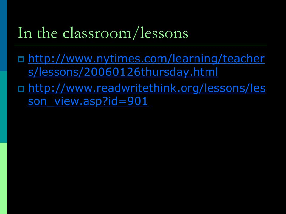 In the classroom/lessons    s/lessons/ thursday.html   s/lessons/ thursday.html    son_view.asp id=901   son_view.asp id=901