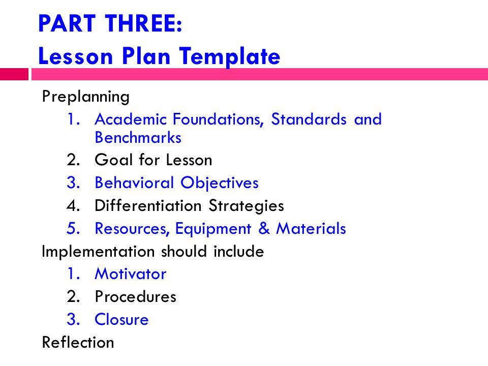 Psu Ie2p Work Sample Part Three Instructional Plans Ann Donaca