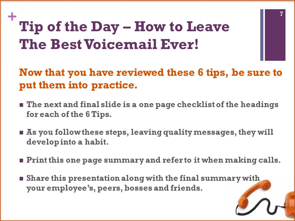 6 tips for leaving the best voic message ever follow these steps to tip of the day how to leave the best voicemail ever m4hsunfo Image collections