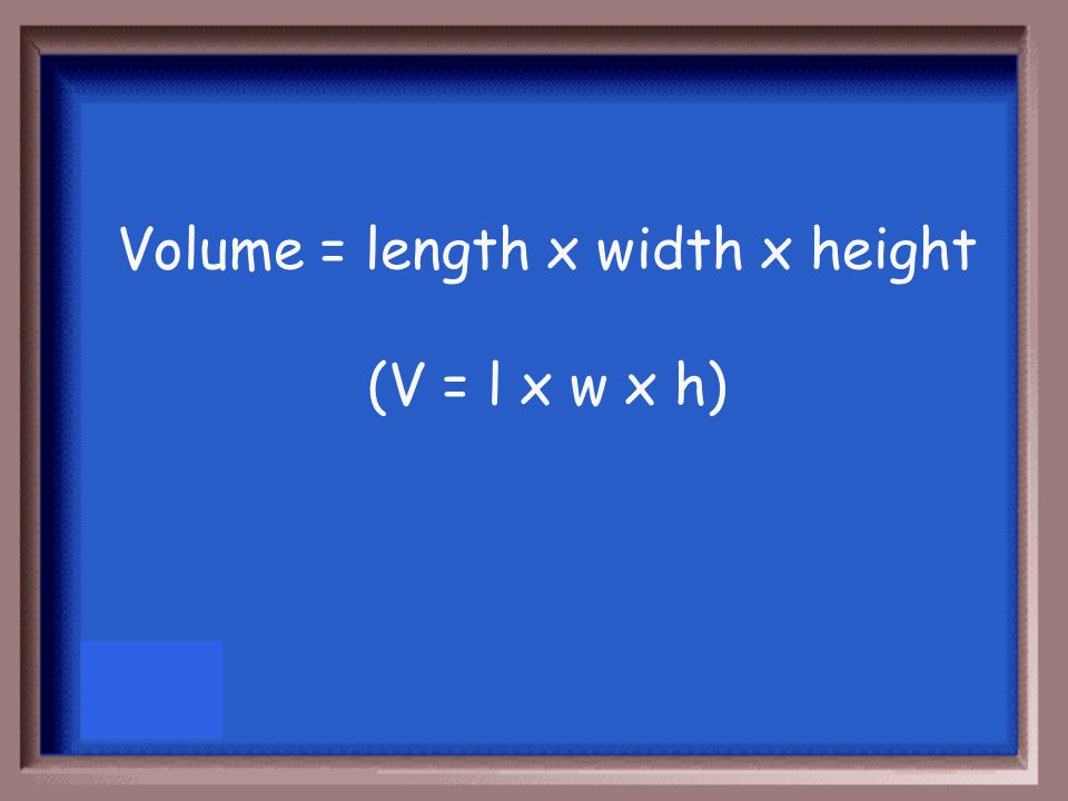 What is the formula for finding the volume of a solid