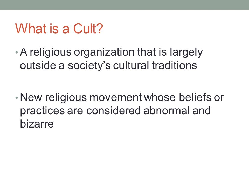 religious cults a threat to society essay Religion: is it a force for good in the modern world there is also a danger from semi-religious cults.