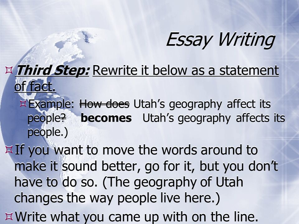 writing essays in geography Geography essays can be written explanatory essay writing and five paragraph essays geography essay topics and the key points alone can be obtained online.