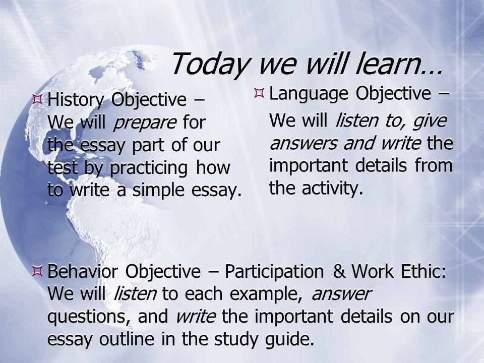 Ethics Essay Outline