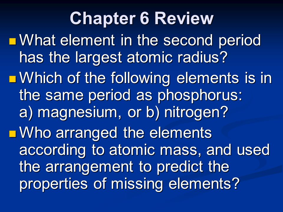 What element in the second period has the largest atomic radius?