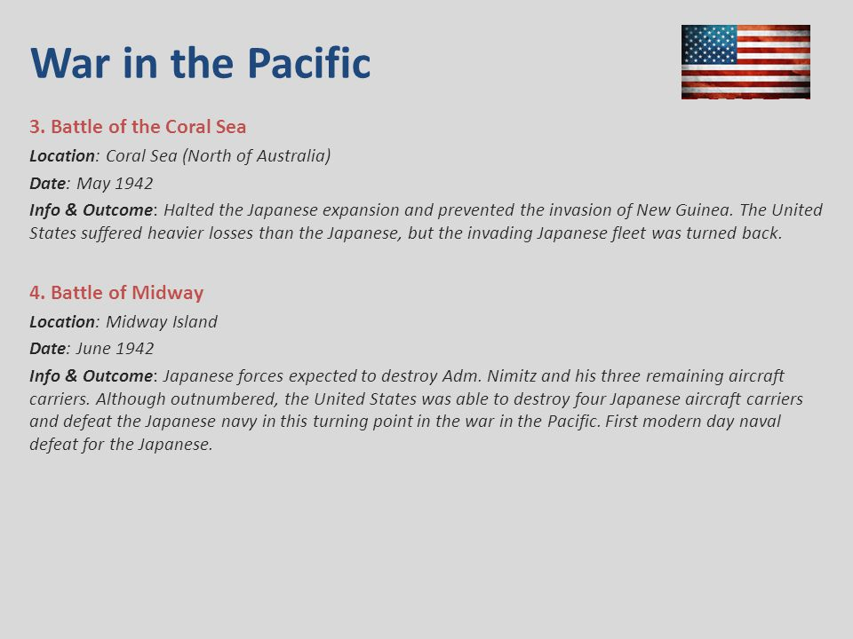 War in the Pacific 3.