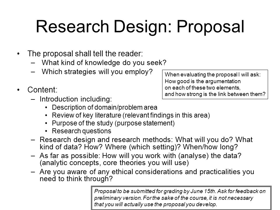 Research proposal research design