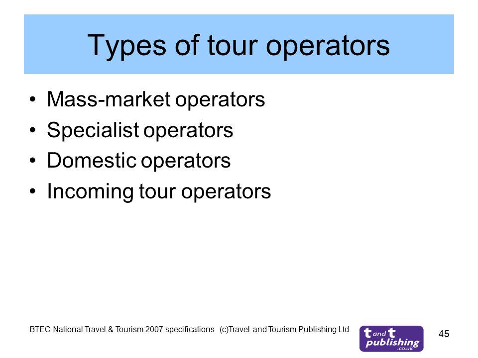 outbound tour operators definition