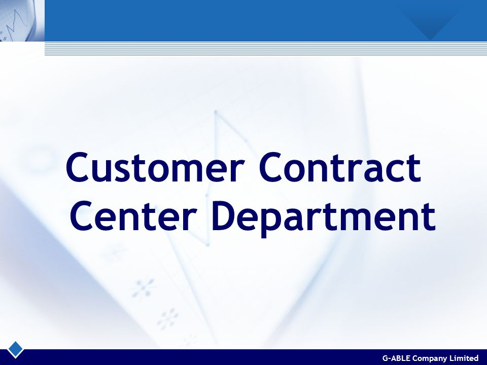 G-ABLE Company Limited Customer Contract Center Department