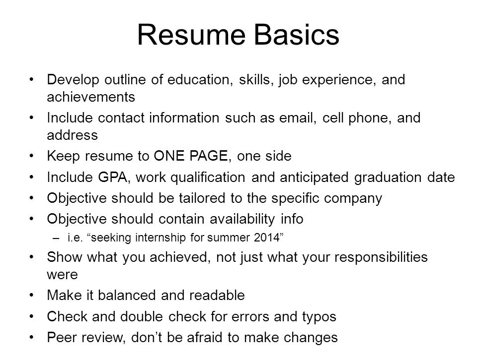 resume outline examples resume for your job application