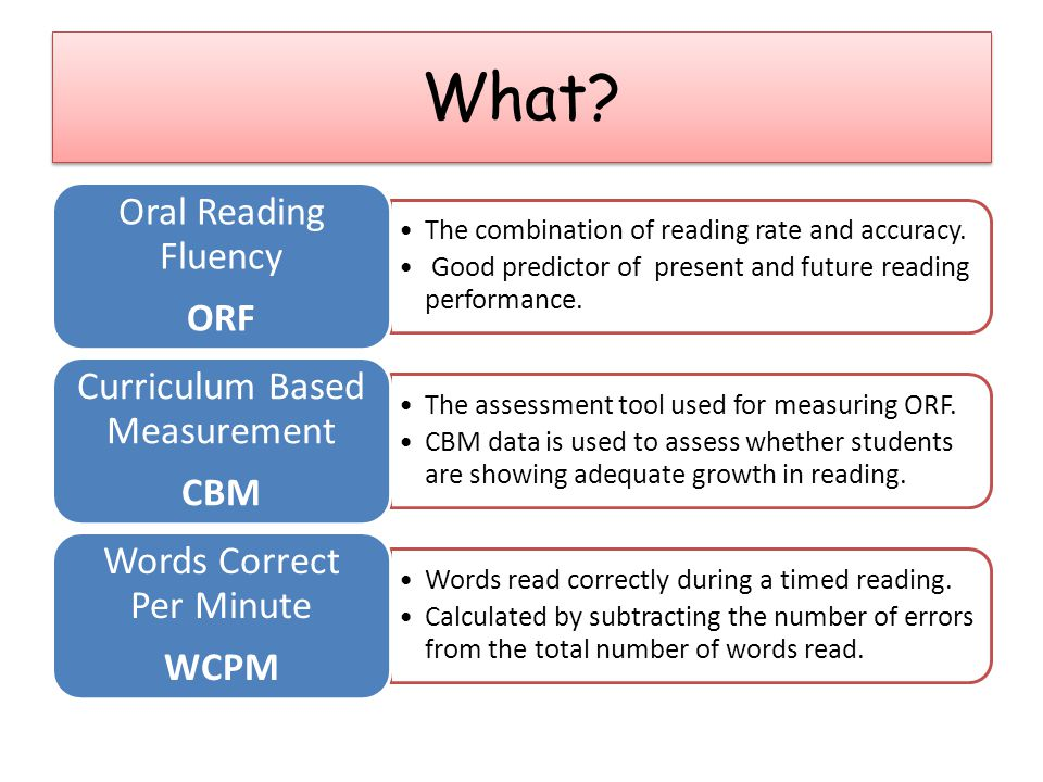 The combination of reading rate and accuracy.