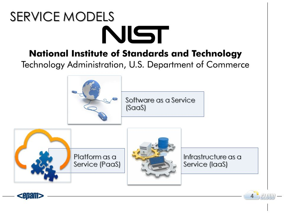Software as a Service (SaaS) Platform as a Service (PaaS) Infrastructure as a Service (IaaS) 4 SERVICE MODELS