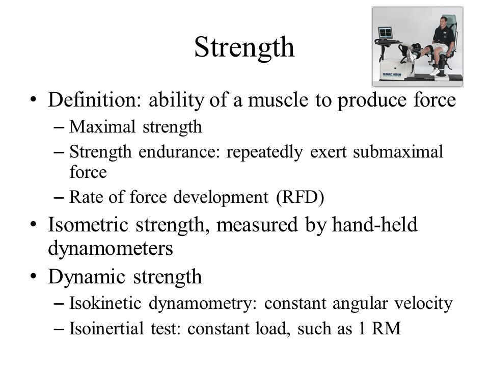 2 Strength Definition: ...