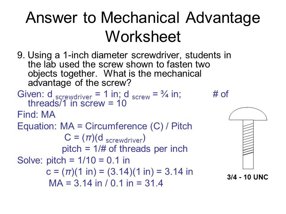 Mechanical Advantage Worksheet Virallyapp Printables Worksheets – Mechanical Advantage Worksheet
