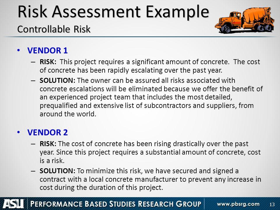 Project Risk Assessment Construction Impact Risk Assessment Risk