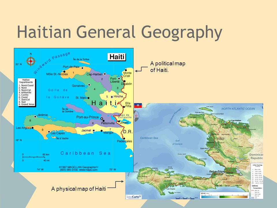 Haiti Haitian Government Type Republic Where The Government Is - Physical map of haiti