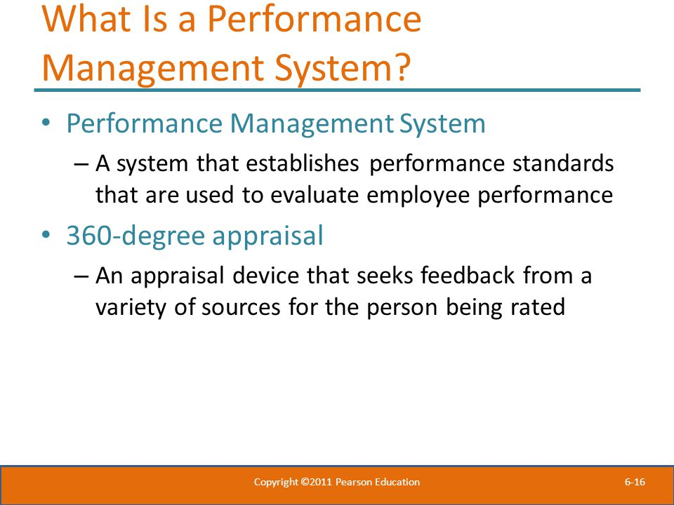 6-16 What Is a Performance Management System.