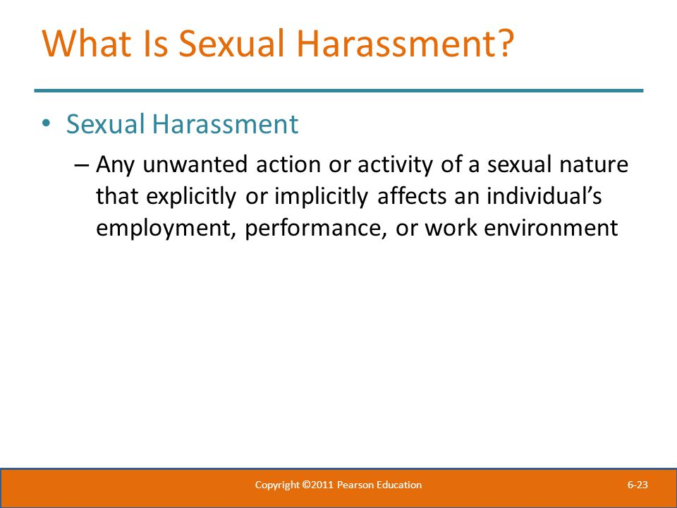 6-23 What Is Sexual Harassment.