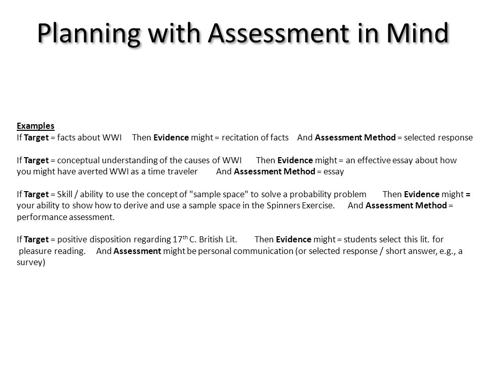 assessment basics and active student involvement ppt  8 examples