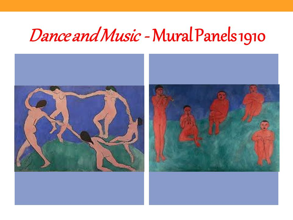 Dance and Music - Mural Panels 1910