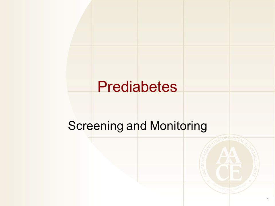 Prediabetes Screening and Monitoring 1