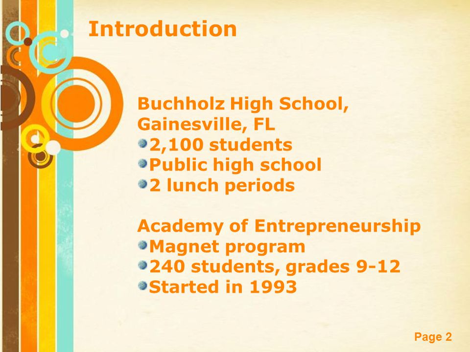 Free powerpoint templates page 1 free powerpoint templates the 2 free powerpoint templates page 2 introduction buchholz high school gainesville fl 2100 students public high school 2 lunch periods academy of toneelgroepblik Images