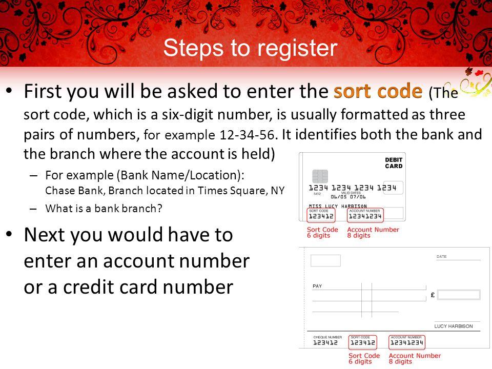 Steps to register