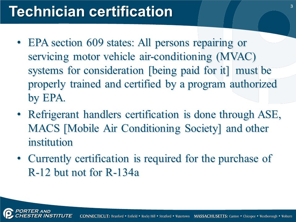 1 refrigerants and refrigerant oil 2 the clean air act of 1990 3 technician certification epa section 609 states all persons repairing or servicing motor vehicle air sciox Image collections