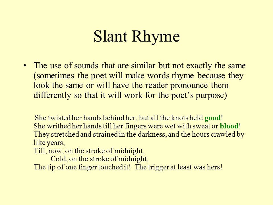 Rhyme and Meter in Poetry Another Note Taking Adventure. - ppt ...