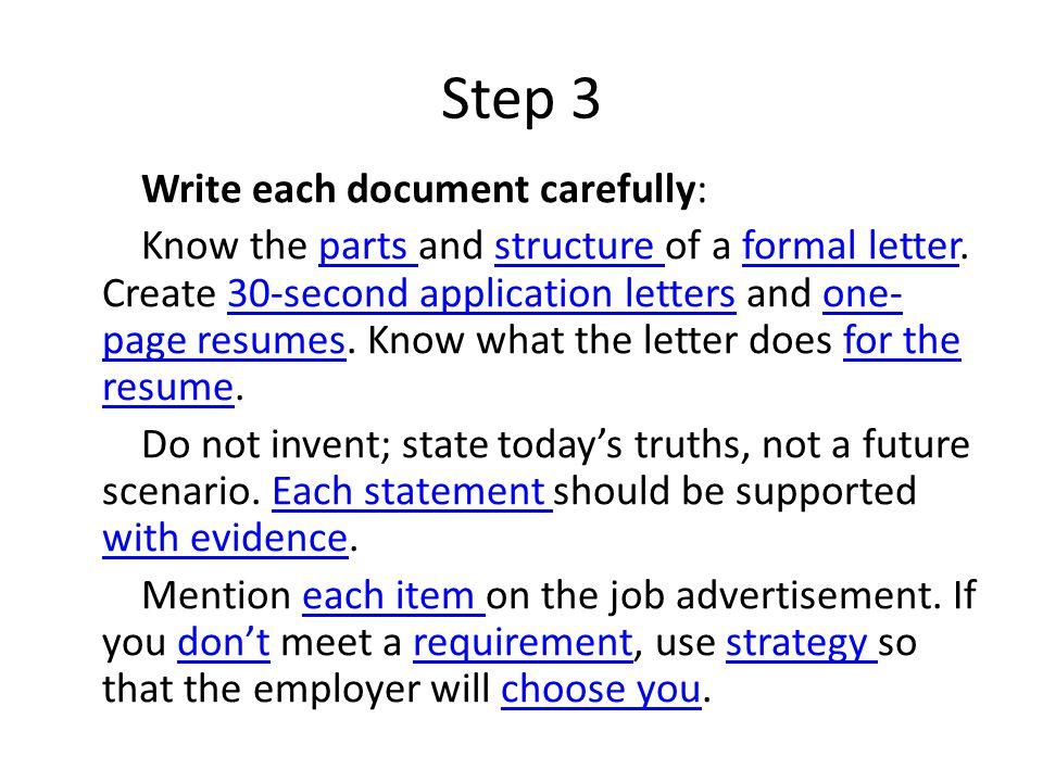 4 step 3 write