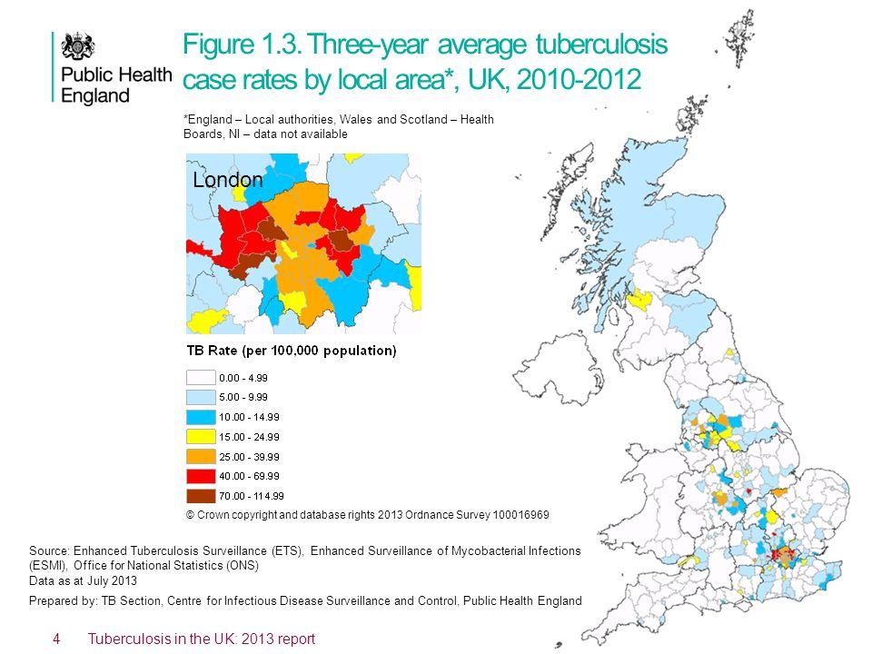 4 Tuberculosis in the UK: 2013 report Figure 1.3.