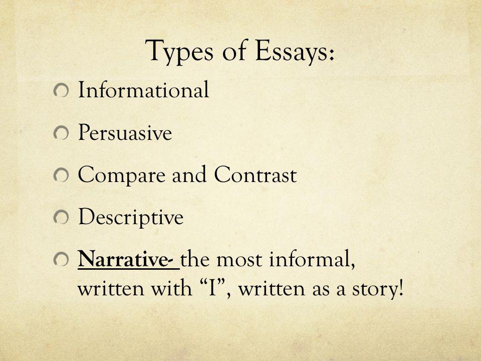 Types Of English Essays