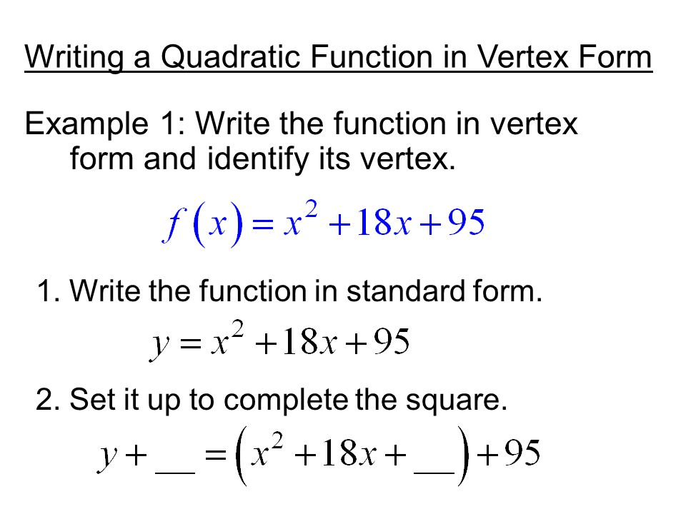 Write The Quadratic Function In Standard Form Essay Writing Service