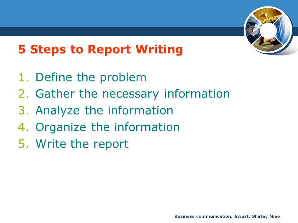 business communication report writing format