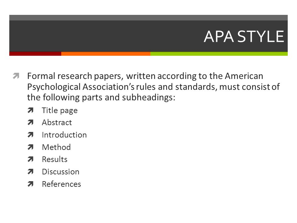 how to write an apa research paper apa style  formal research  2 apa style