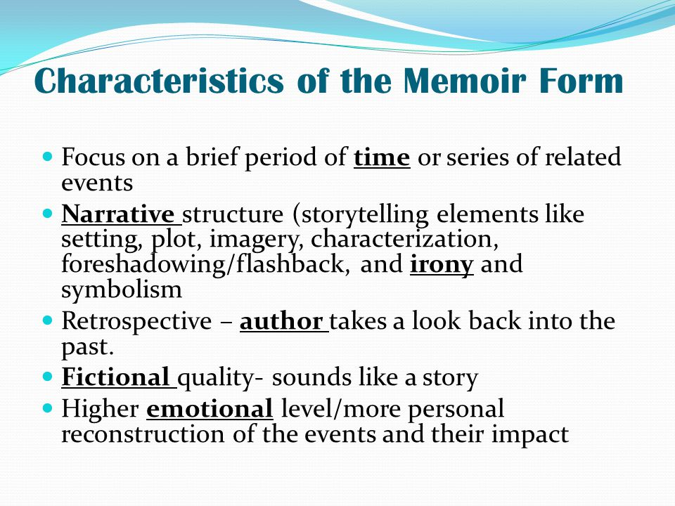 Simple Essays In English Autobiographical Writing Captures Certain Highlights Or Meaningful  English Sample Essays also Compare Contrast Essay Examples High School Memoir Form  Omfarmcpgroupco Yellow Wallpaper Essay