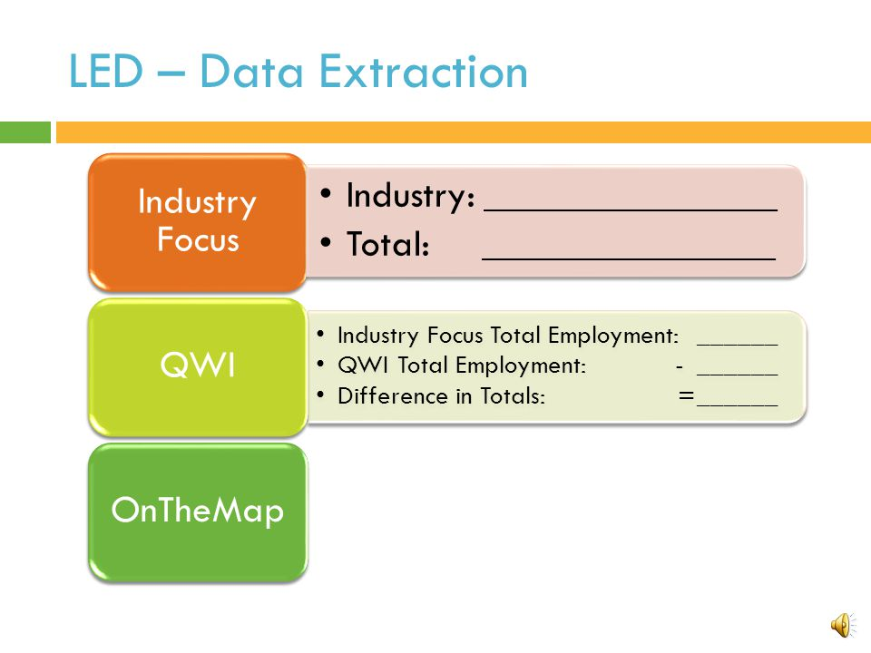 Practice - Data Extraction Use Local Employment Dynamics to answer the questions below.