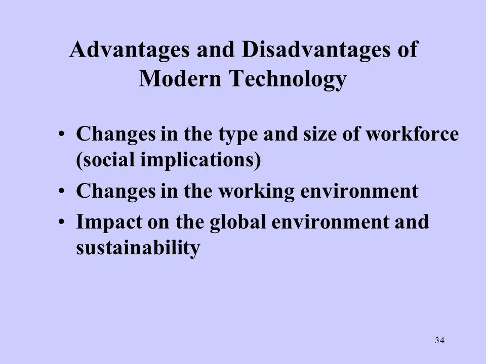 Advantage and disadvantage of modern technology?