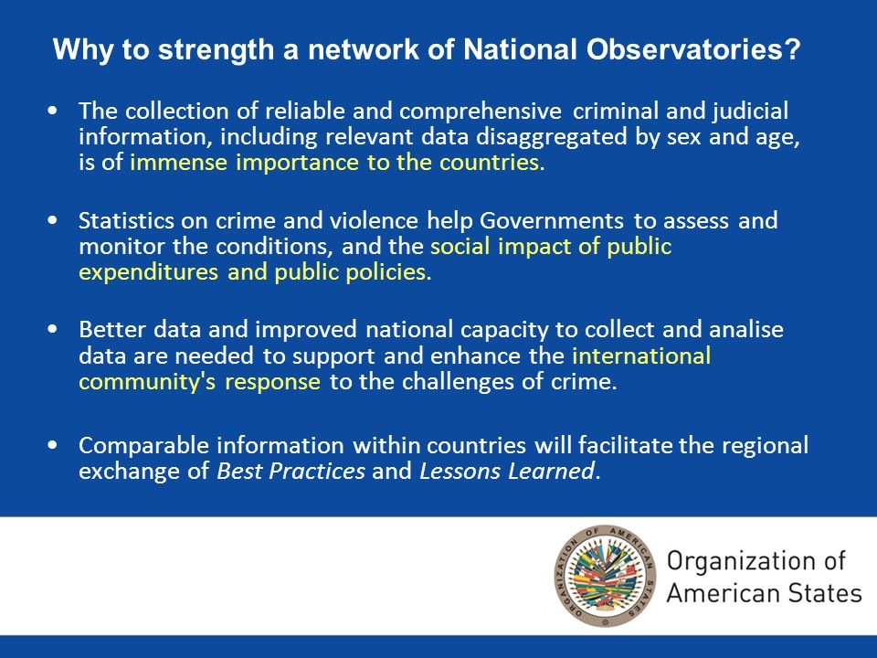 Why to strength a network of National Observatories.